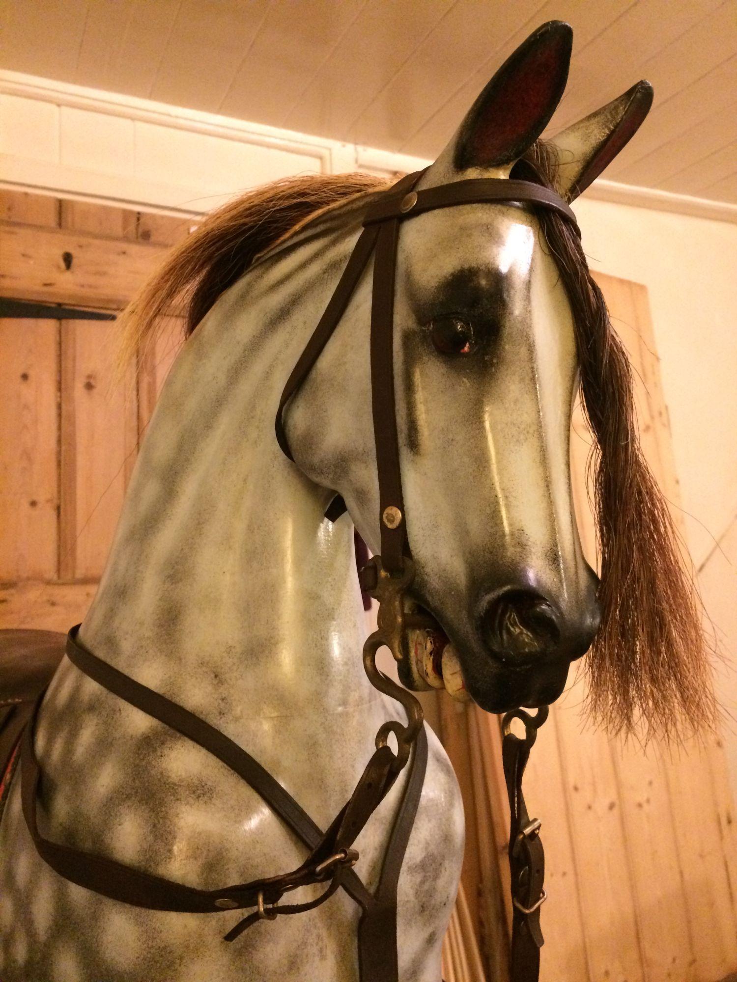 For Sale - Stunning Dapple Grey Rocking Horse Pierre.