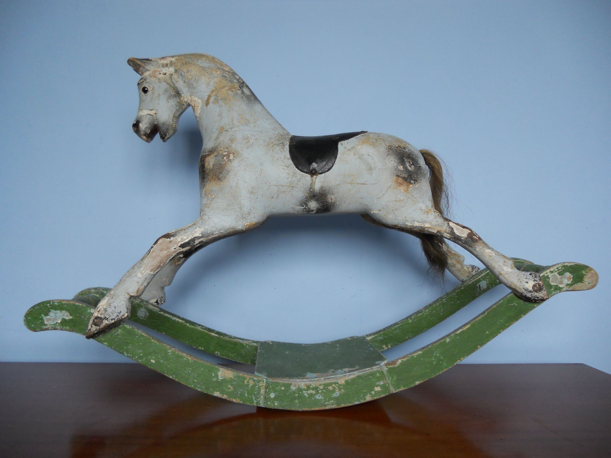 Tiny 00 Sportiboy rocking horse on bow by Lines
