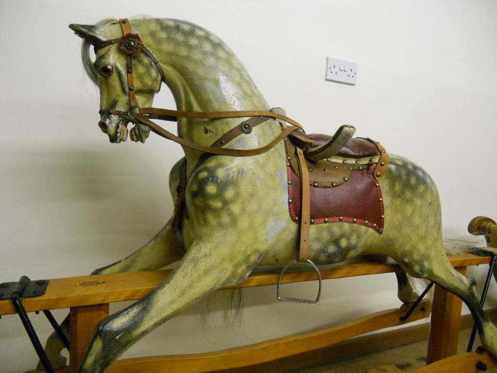 Antique rocking horse attributed to Leach