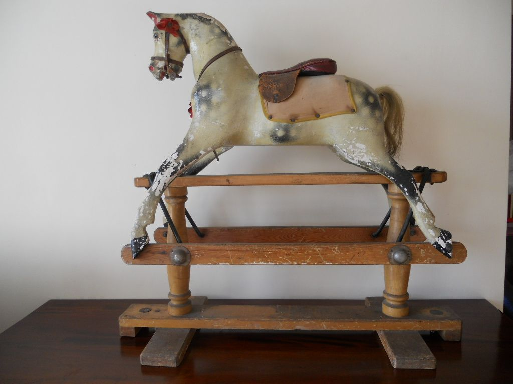 A Vintage Lines Sportiboy rocking horse in original condition