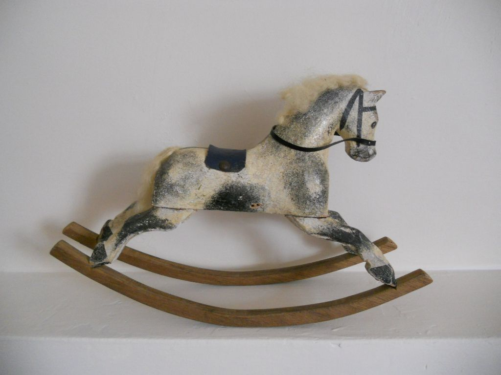 Miniature size rocking horse in original condition