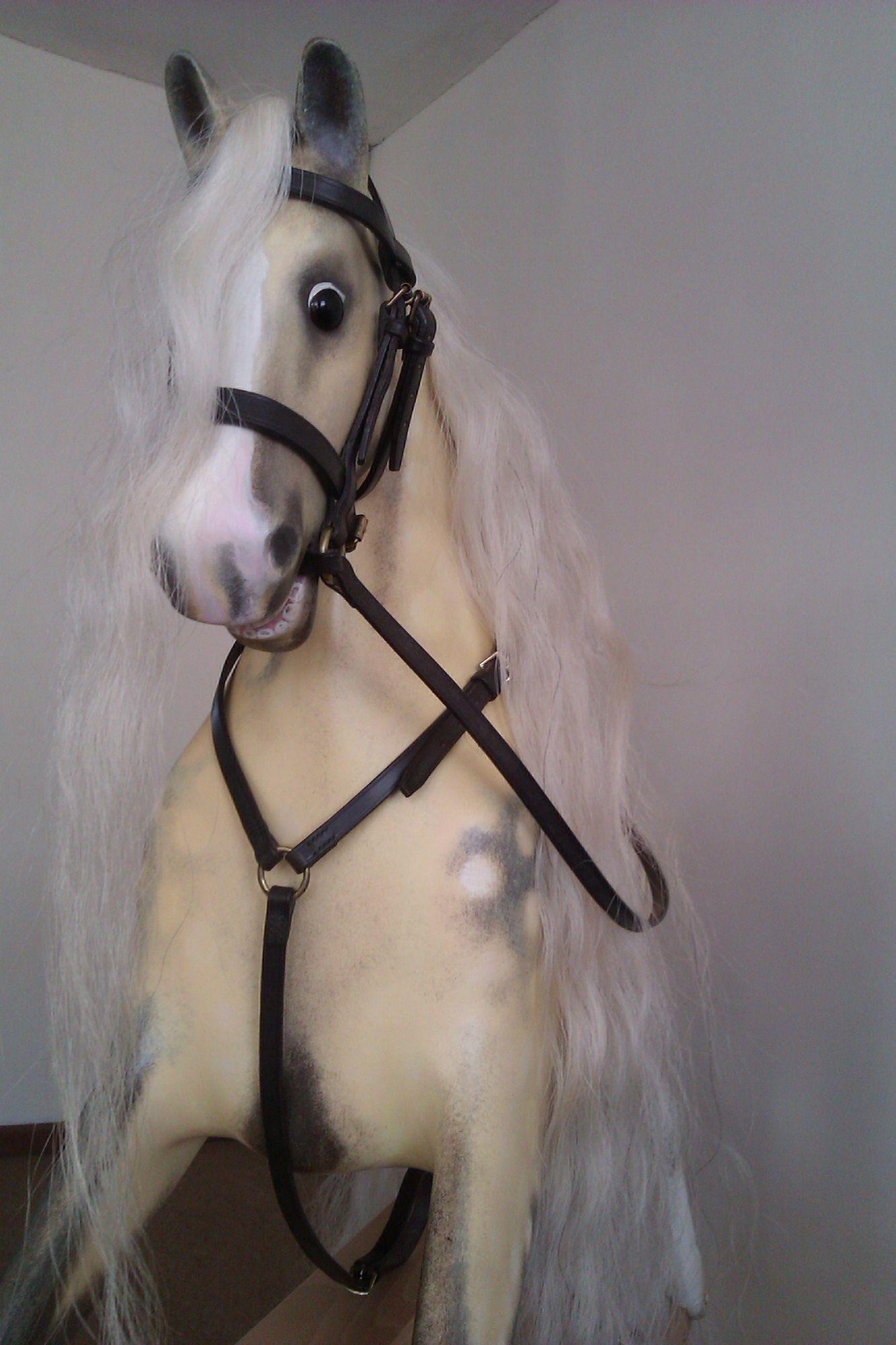 Sold - Palomino rocking horse bespoke restoration.
