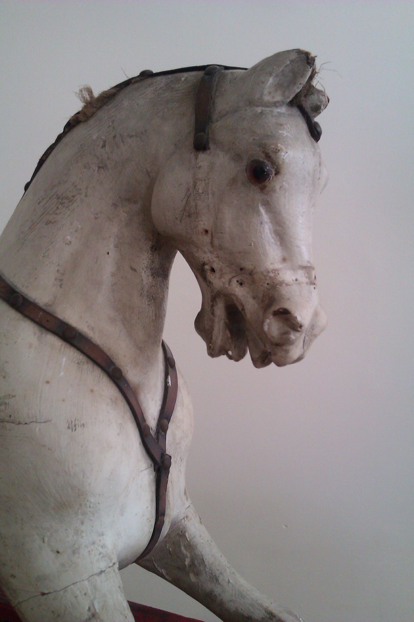 Sold - Rocking horse by F H Ayres extra carved