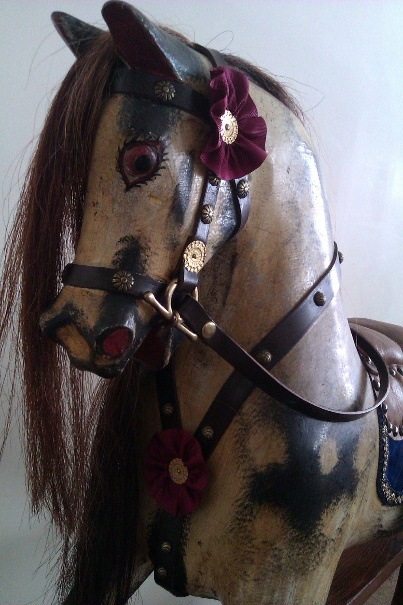 Sold - Antique rocking horse by Norton & Barker fully restored