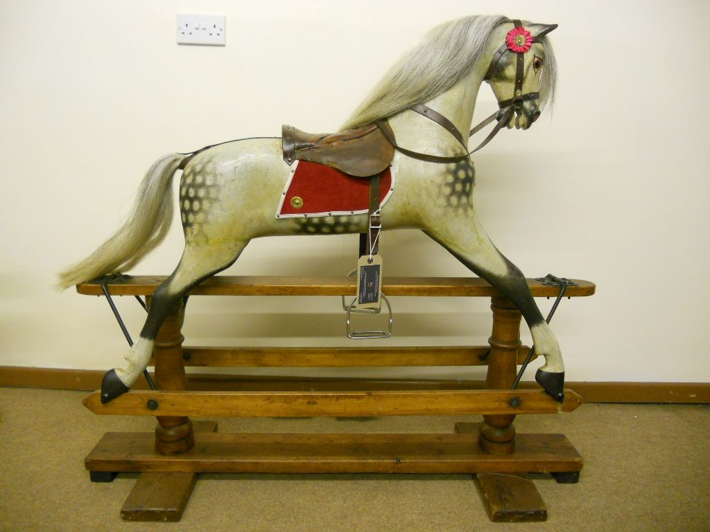 Sold - Antique rocking horse fully restored by F H Ayres