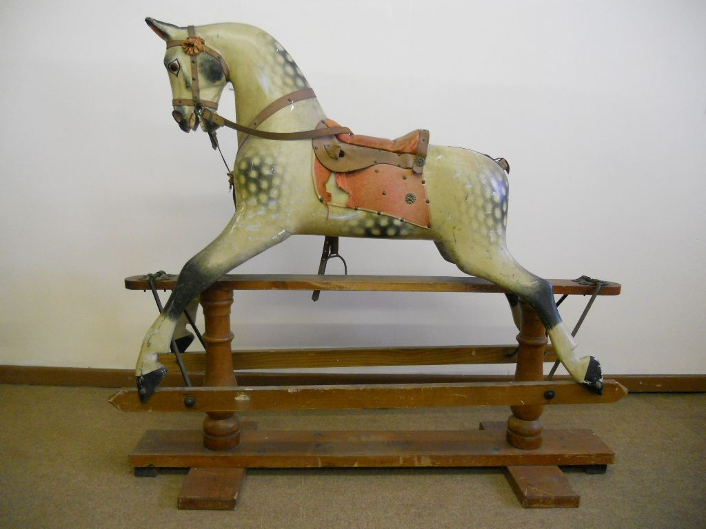 F H Ayres rocking horse plaincarved in original condition