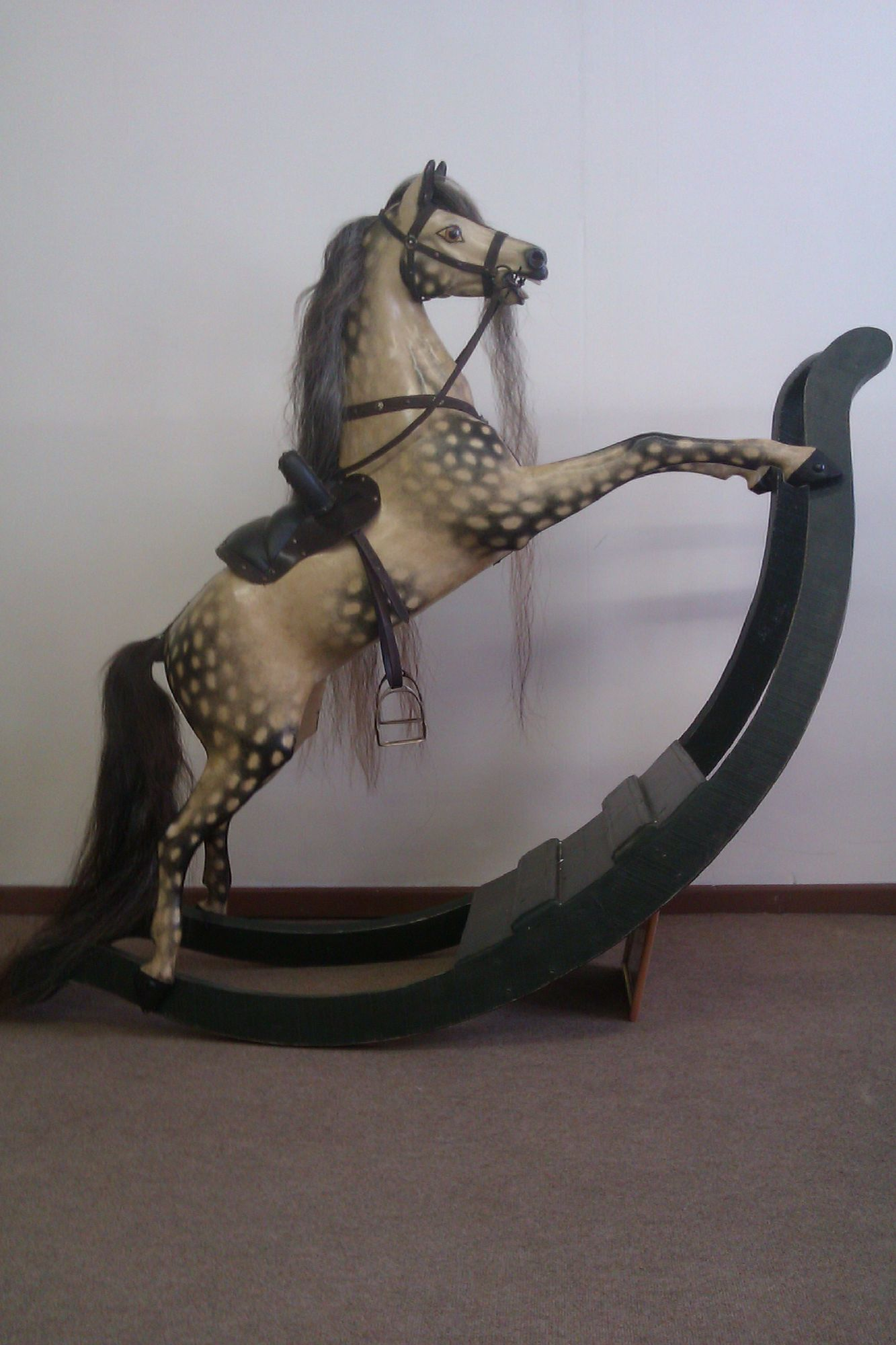 Sold - Antique bow rocking horse 'bow rocker'