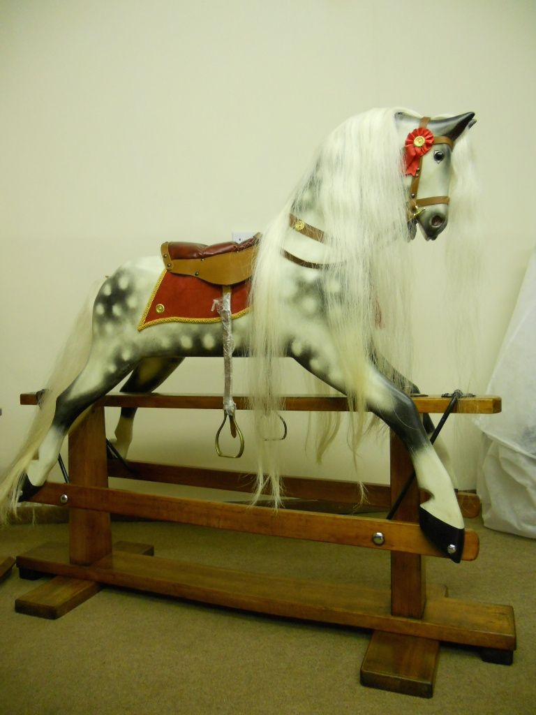Sold - Restored Vintage rocking horse by Collinsons & sons