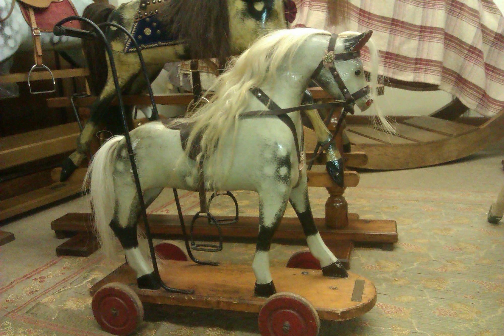 Sold - Original Antique Push horse
