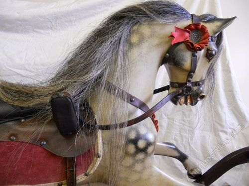 F H Ayres bow rocking horse restored