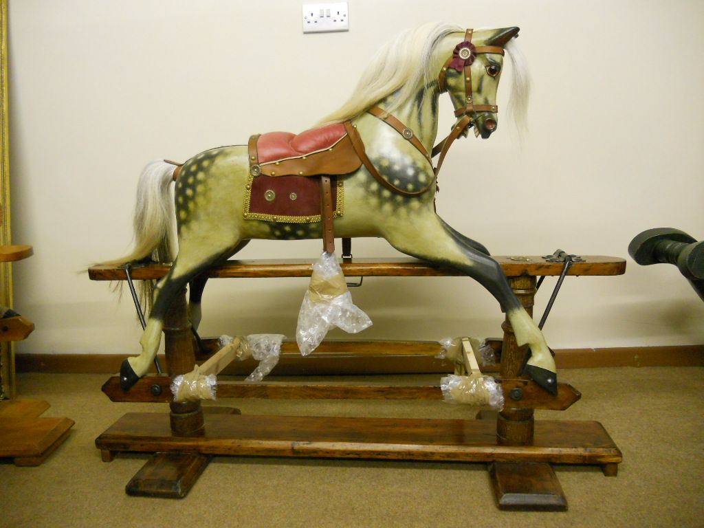 Sold - Restored F H Ayres extra carved rocking horse