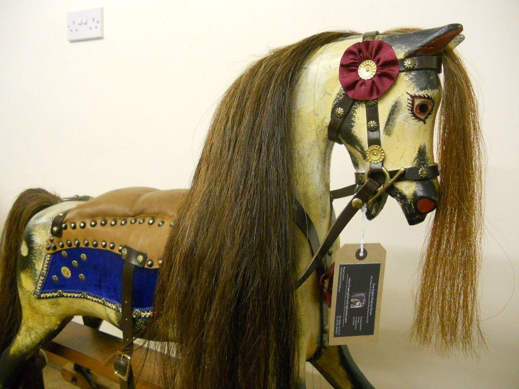 Sold - Antique rocking horse Norton & Barker restored.