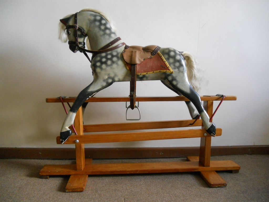 Sold - traditional old Collinson rocking horse