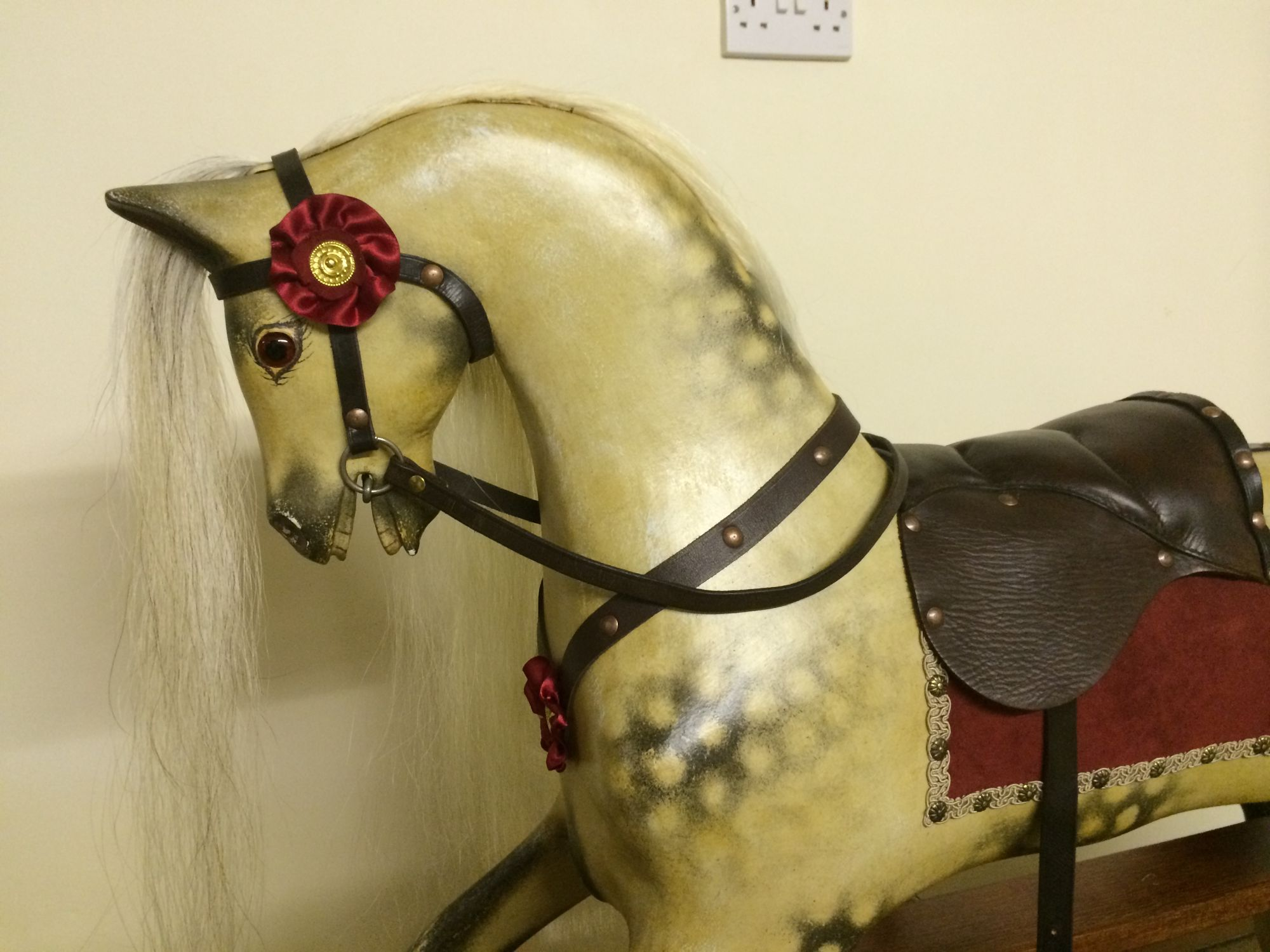 Sold - Restored Old rocking horse by Collinson