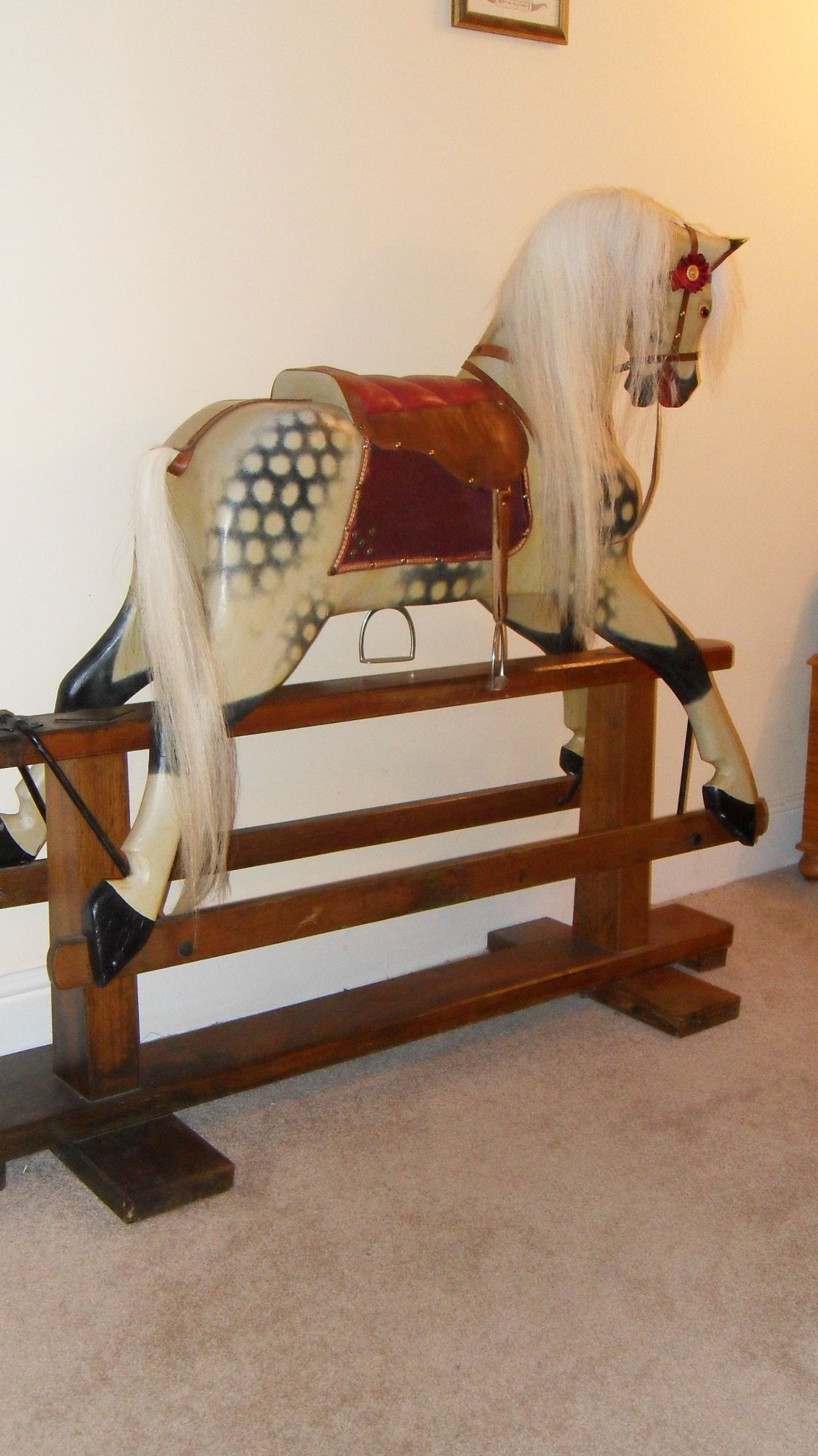 For Sale - Large Old Collinson Rocking Horse 'Poppy'