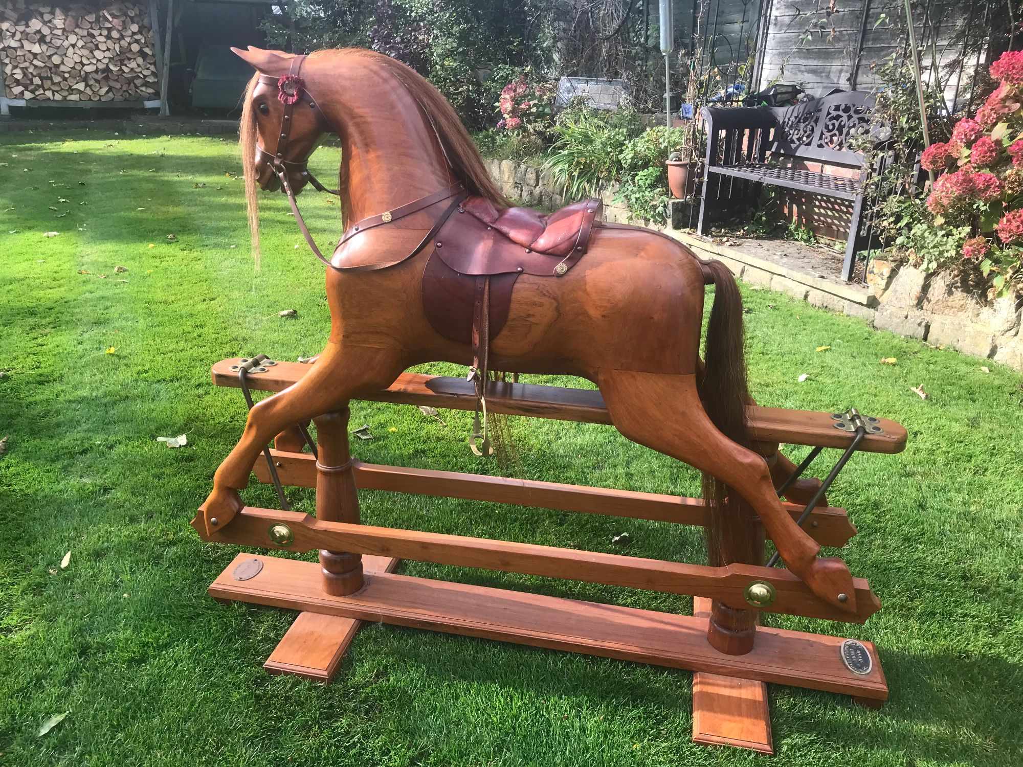 For Sale - Stunning Rosewood Rocking Horse
