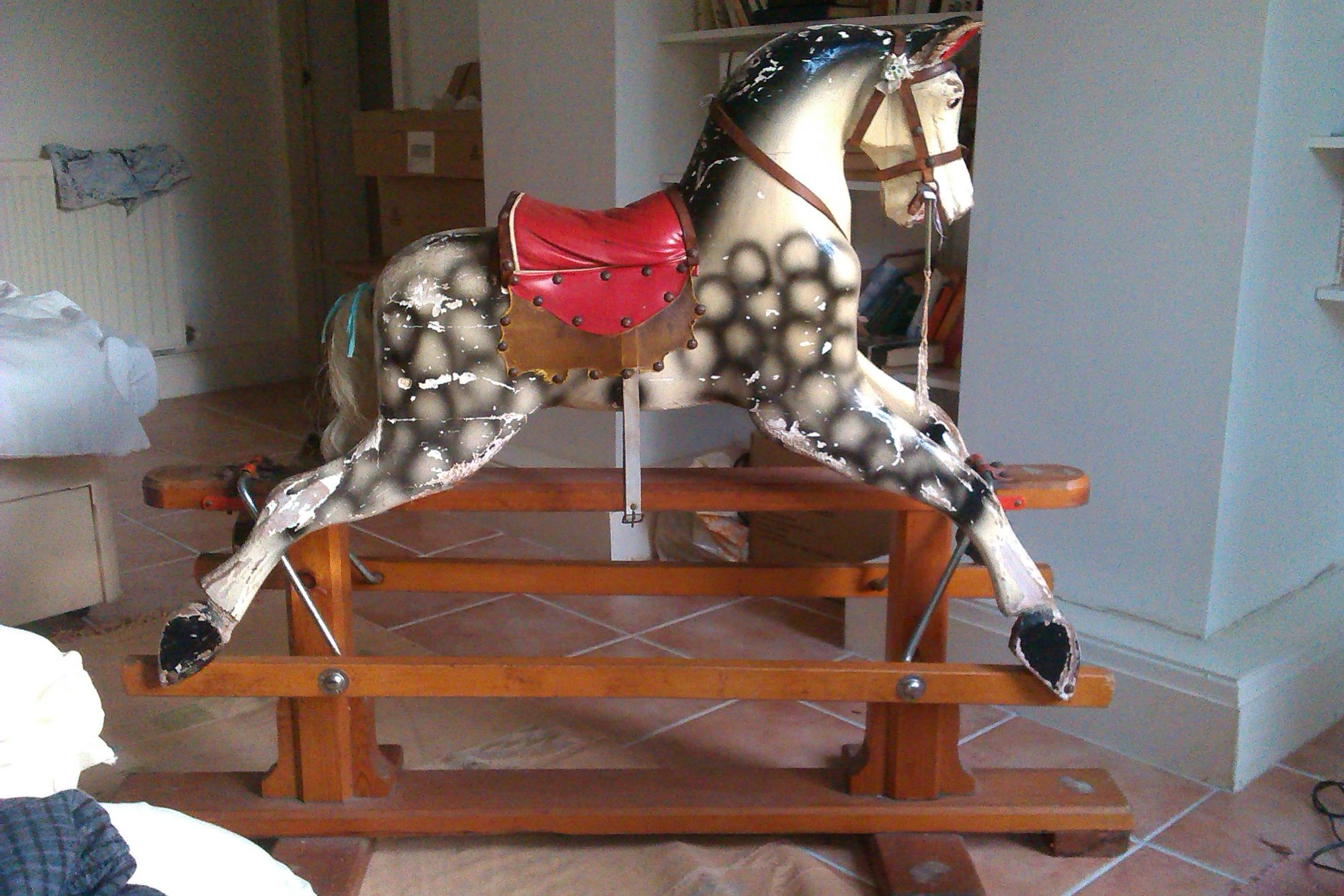 For Sale ~ Patterson Edwards / Leeway Rocking horse unrestored