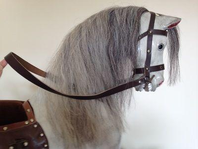 Antique rocking horse Sold www.rockinghorseattic.com