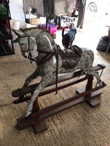 Sold rockinghorse unrestored F H Ayres for restoration www.rockinghorseattic.com