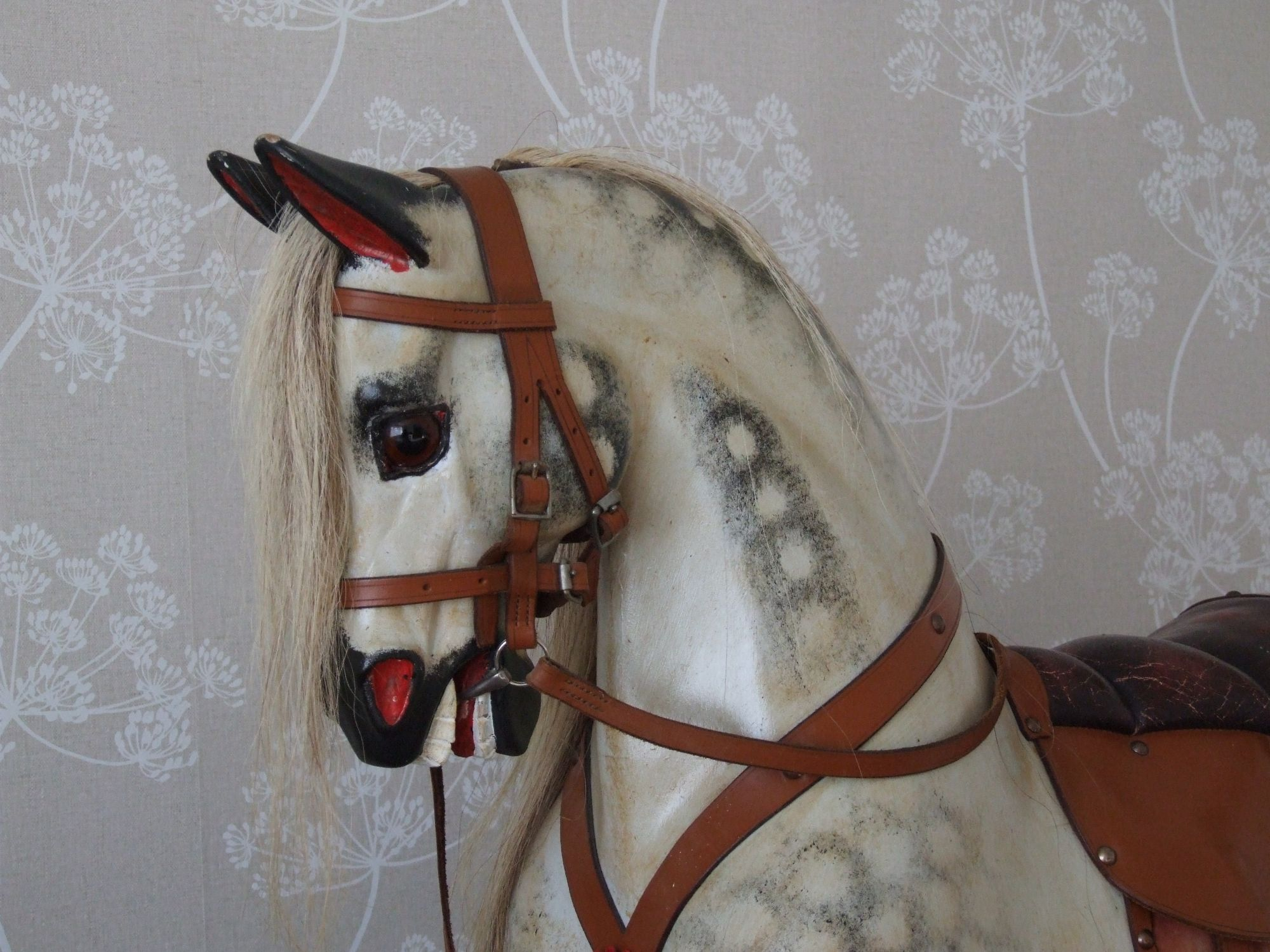 Sold rockinghorse Stevenson Brothers traditional type  www.rockinghorseattic.com