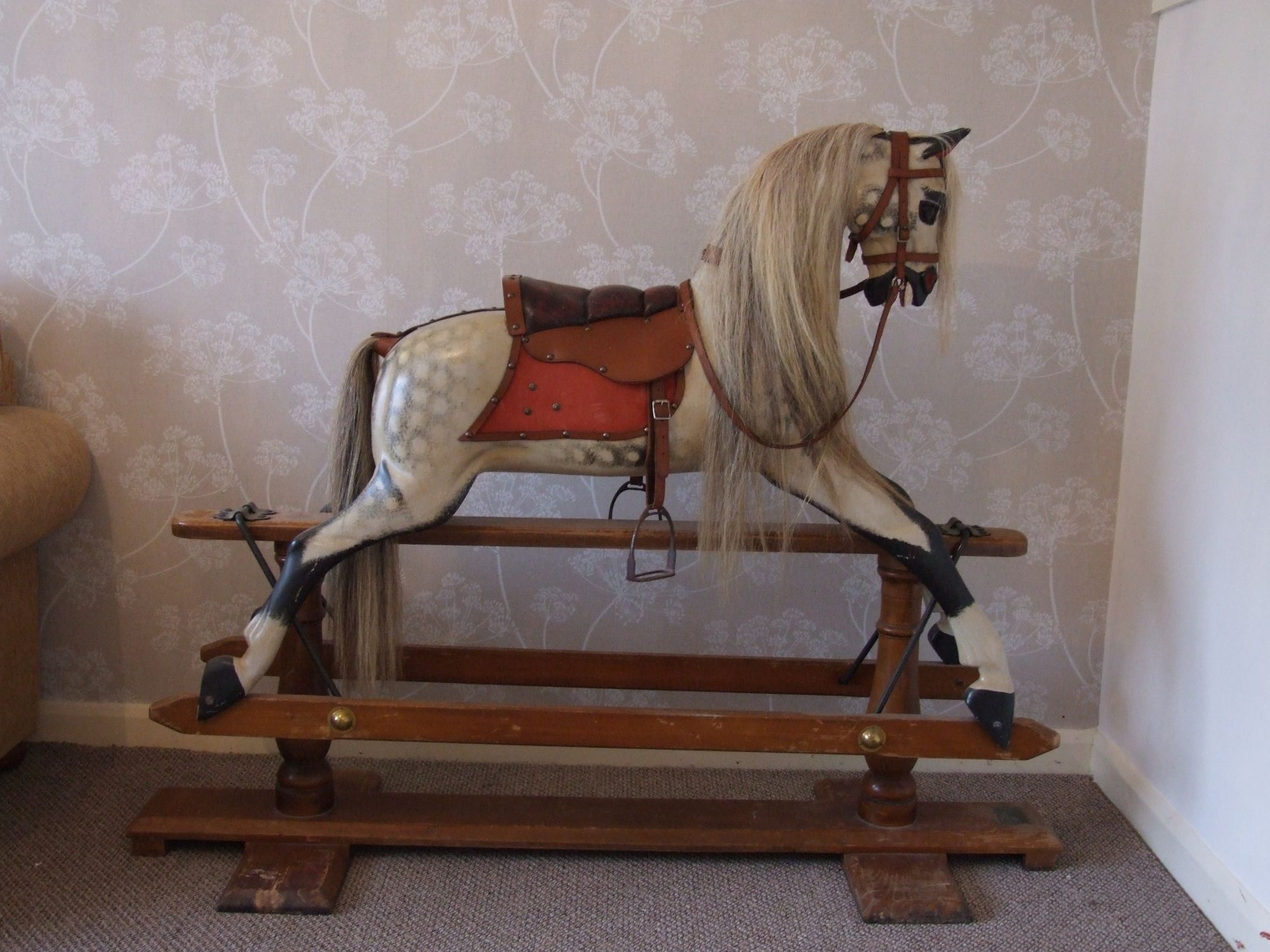 Stevenson Brothers rocking horse on a swingstand