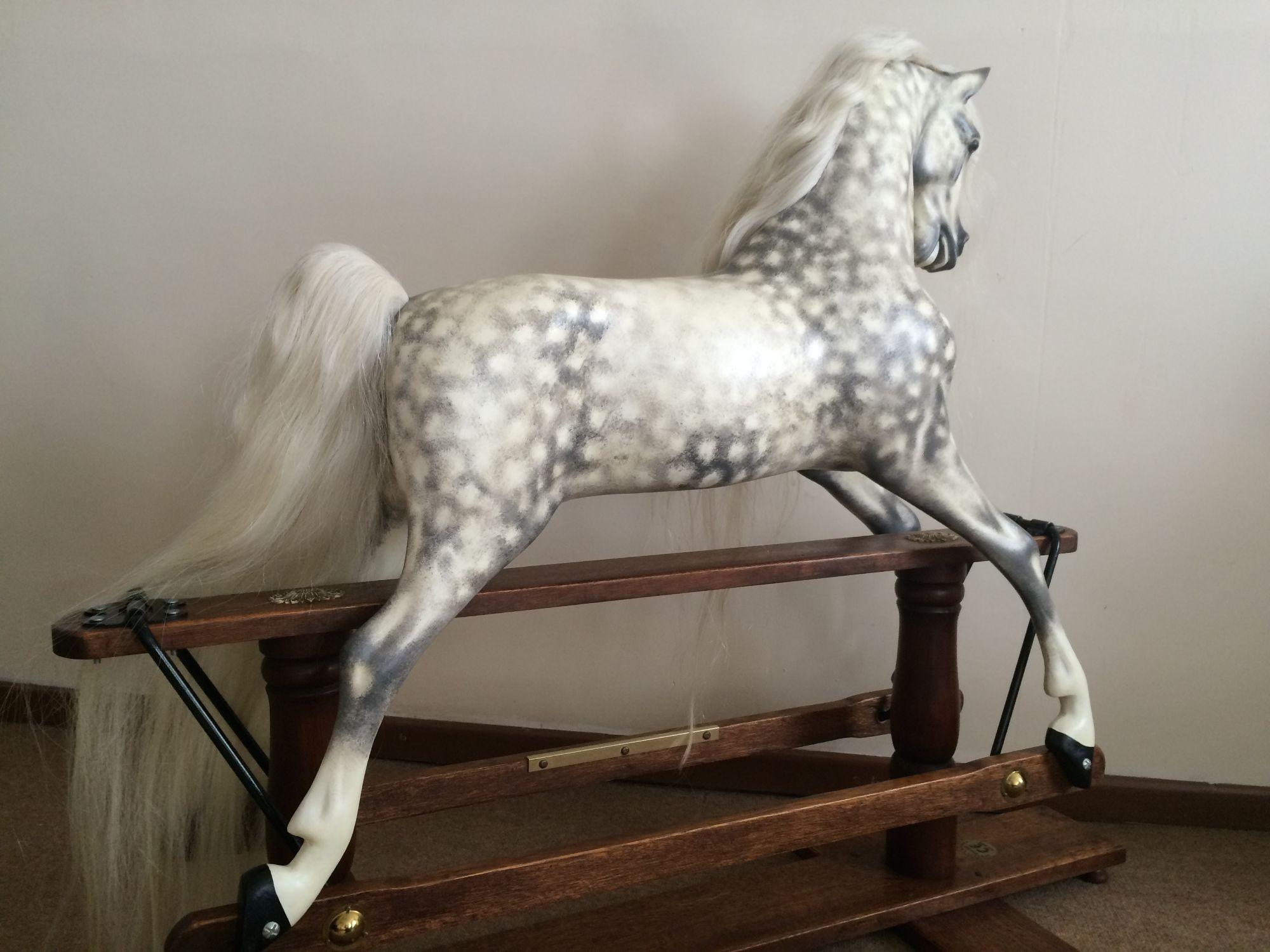 A Haddon style  rocking horse moulded from an F H Ayres Victorian model of horse