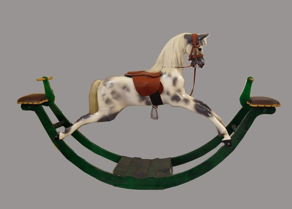 A Haddon bow rocking horse in original condition 'Eventer' type