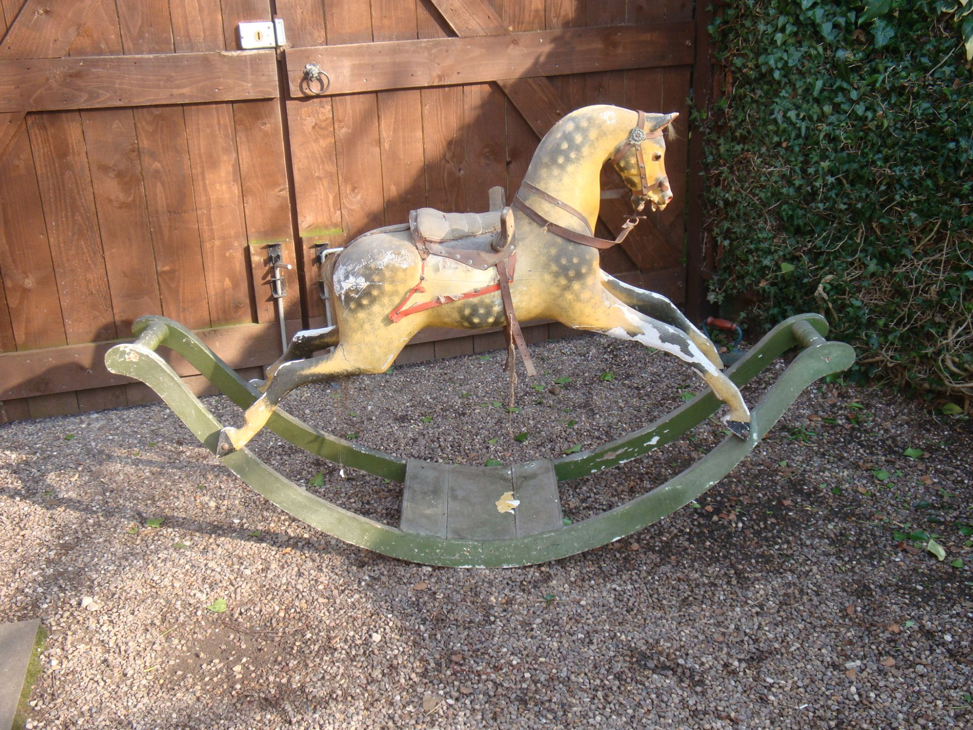 G J Lines bow rocking horse in original condition