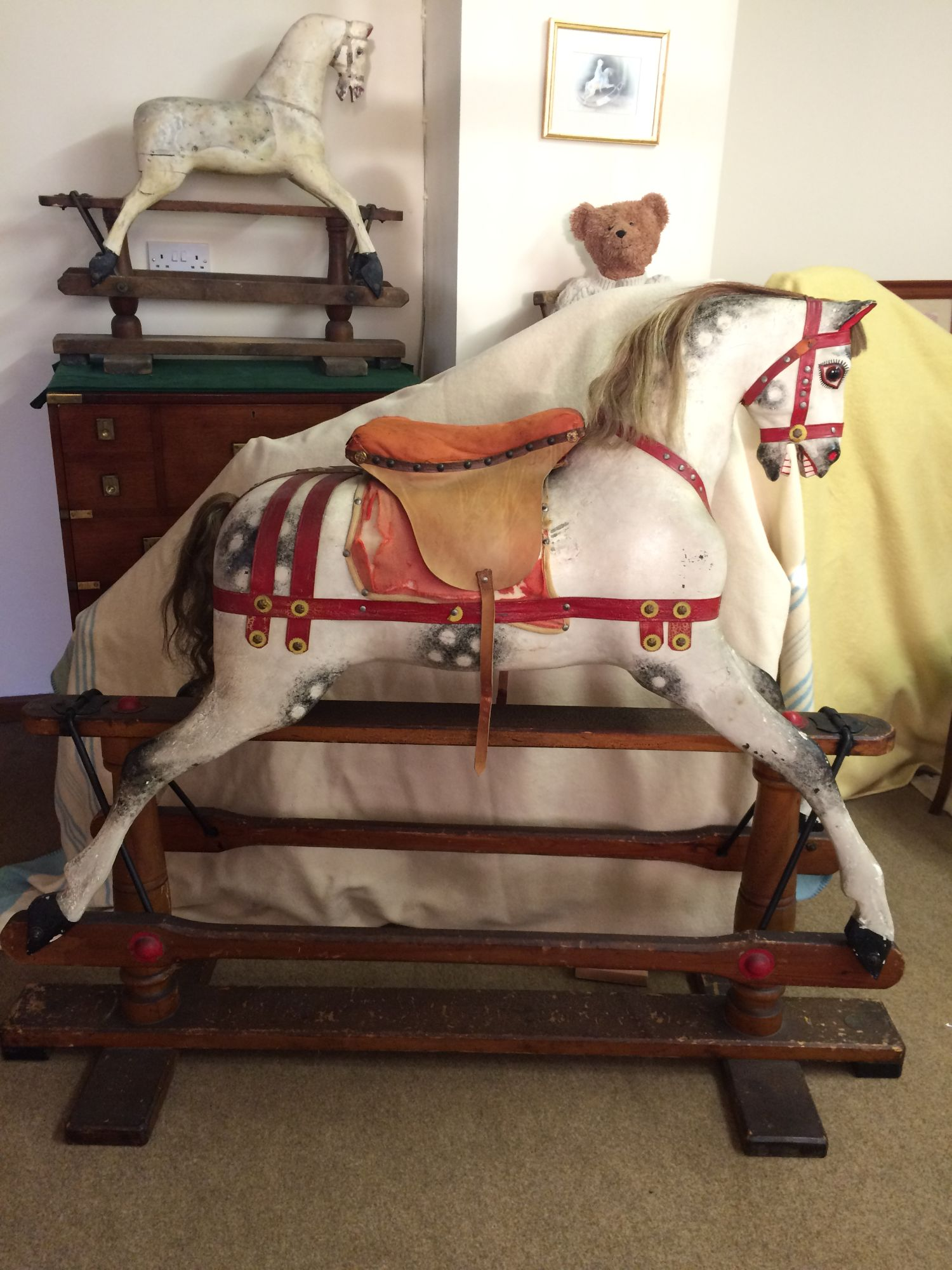 Lines Bros Rocking Horse in Medieval style