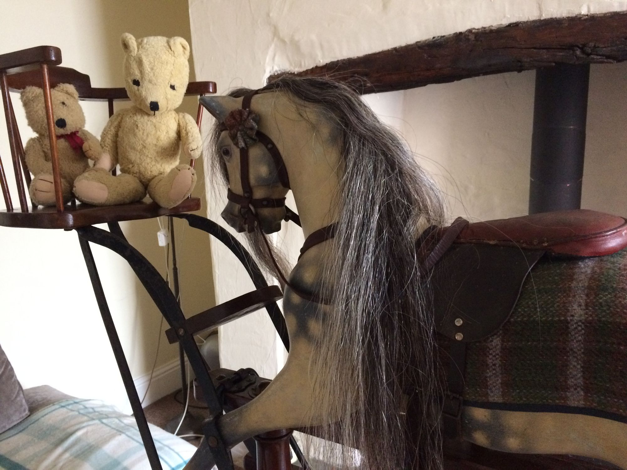 For Sale ~ rare Lines Brothers Sportiboy Nursey rocking horse with end seats.