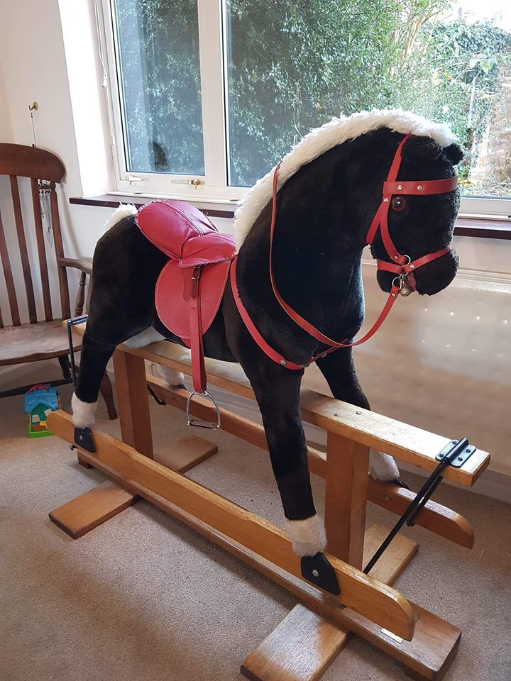 Restored Pegasus Rocking Horse For Sale