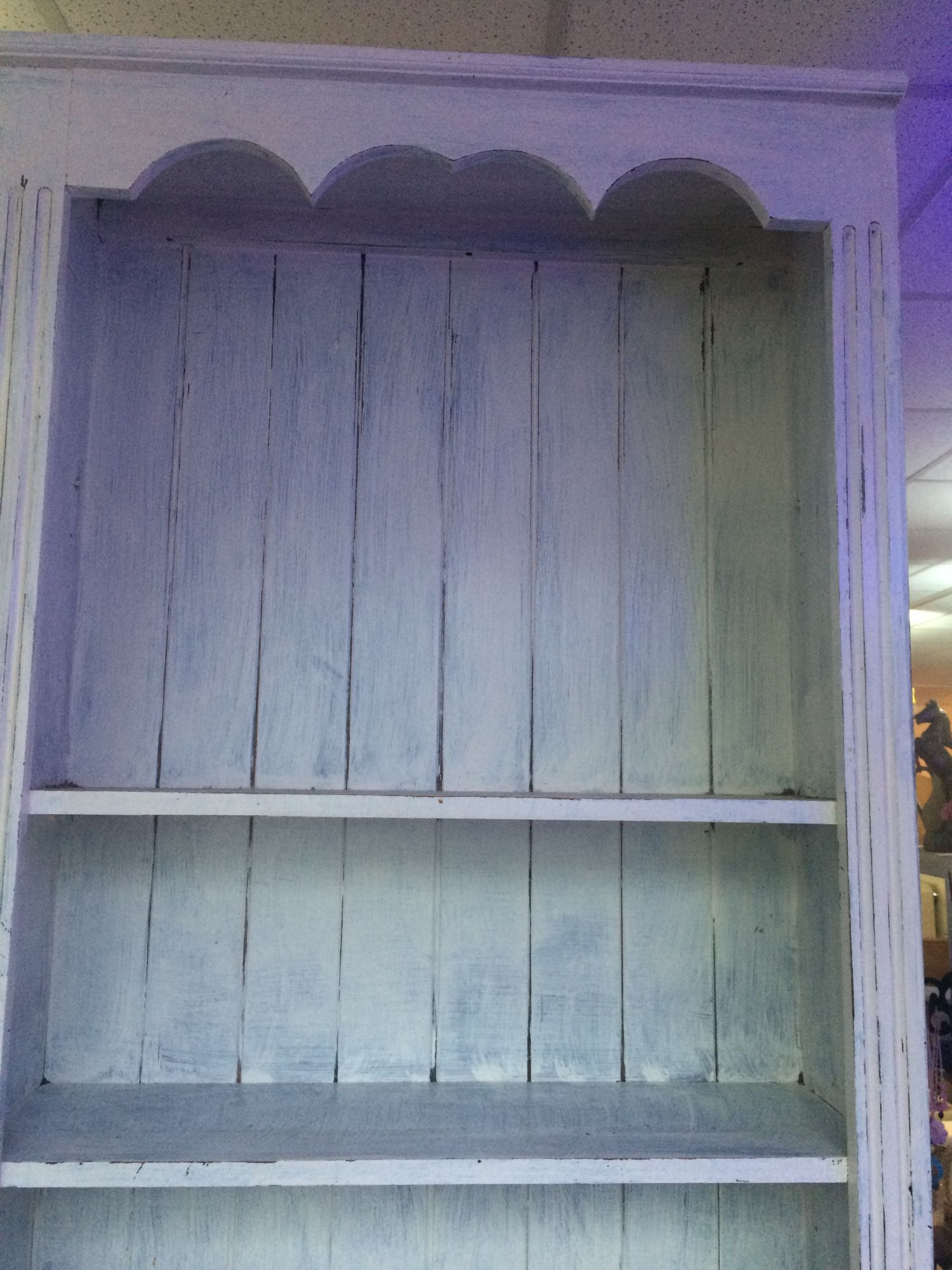 wood shelf unit shabby chic