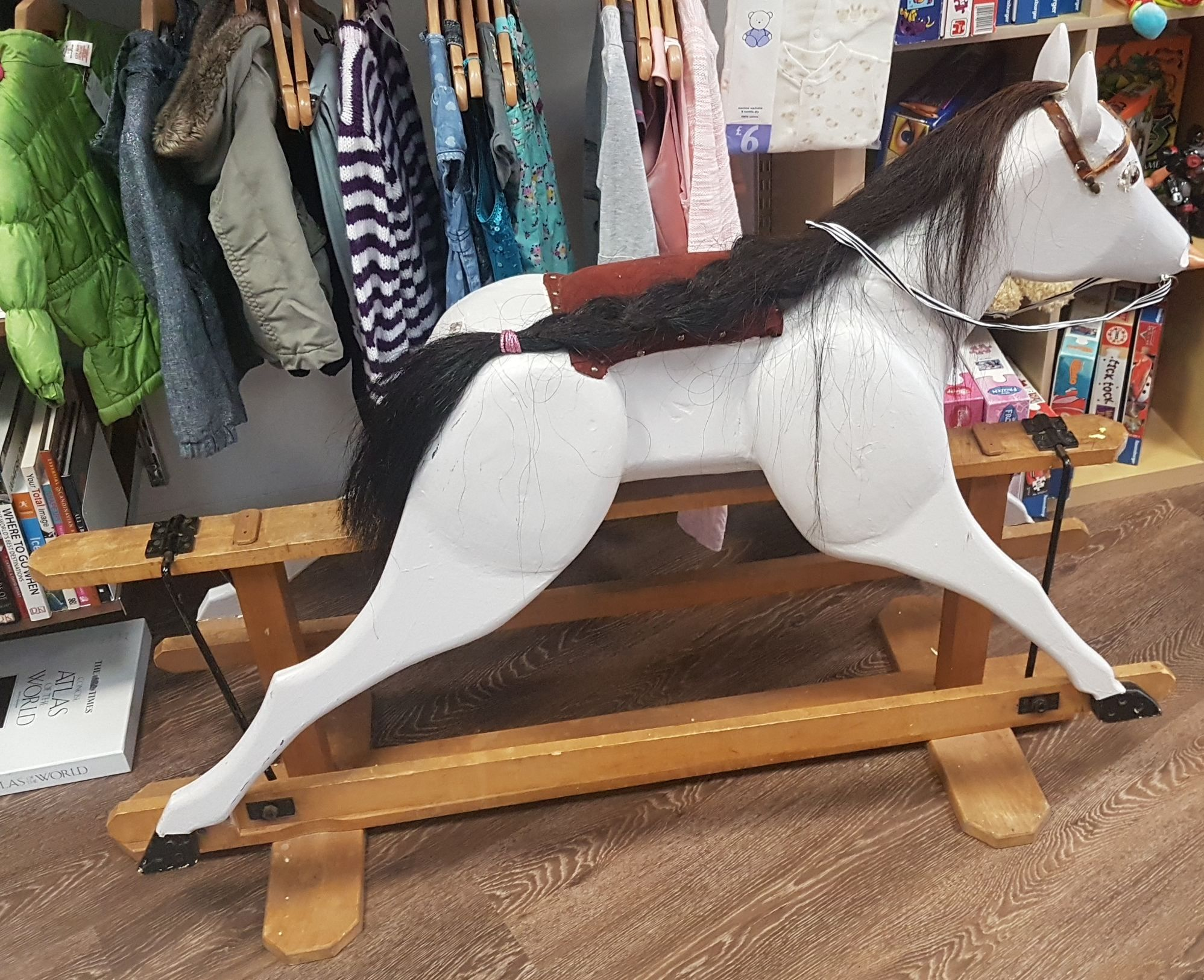 wood rocking horse for sale for charity