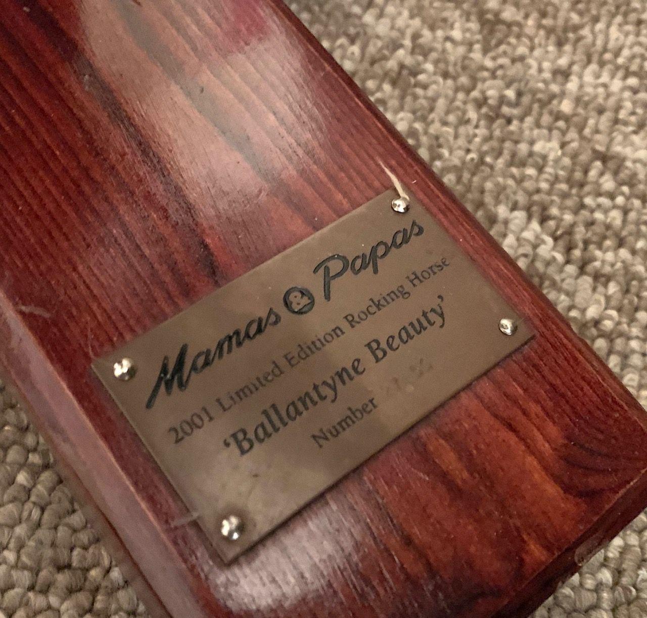 Mama & Papas Wood rocking horse plaque