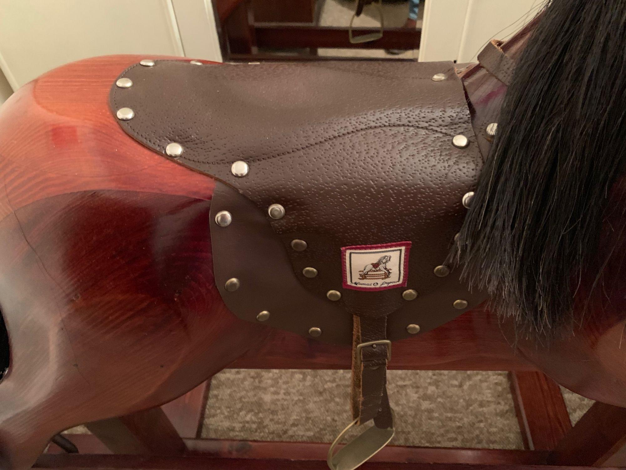 Mama & Papas Wood Rocking Horse For Sale