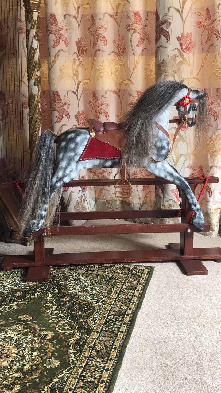 Eooden rocking horse