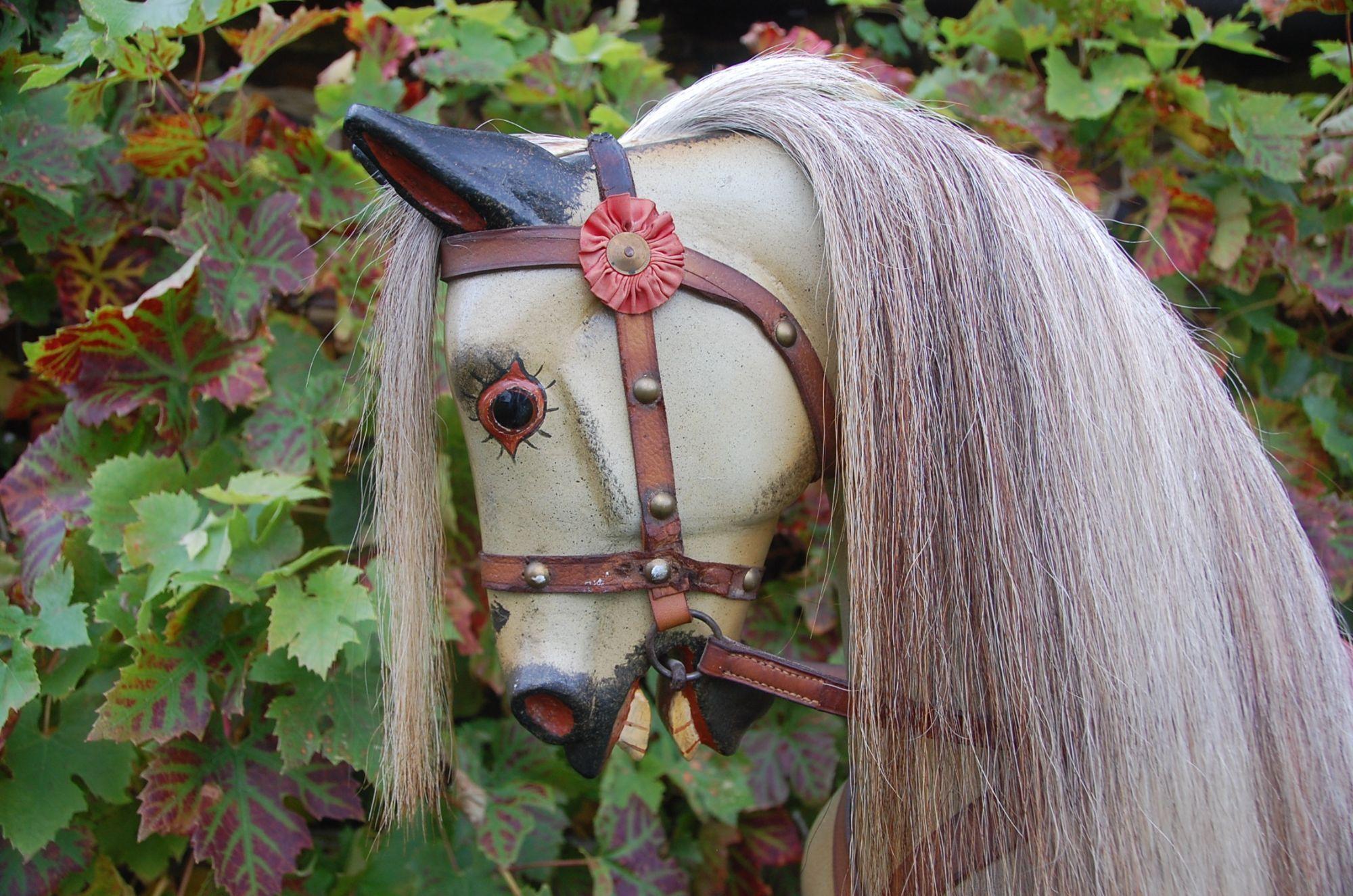 Antique rocking horse head