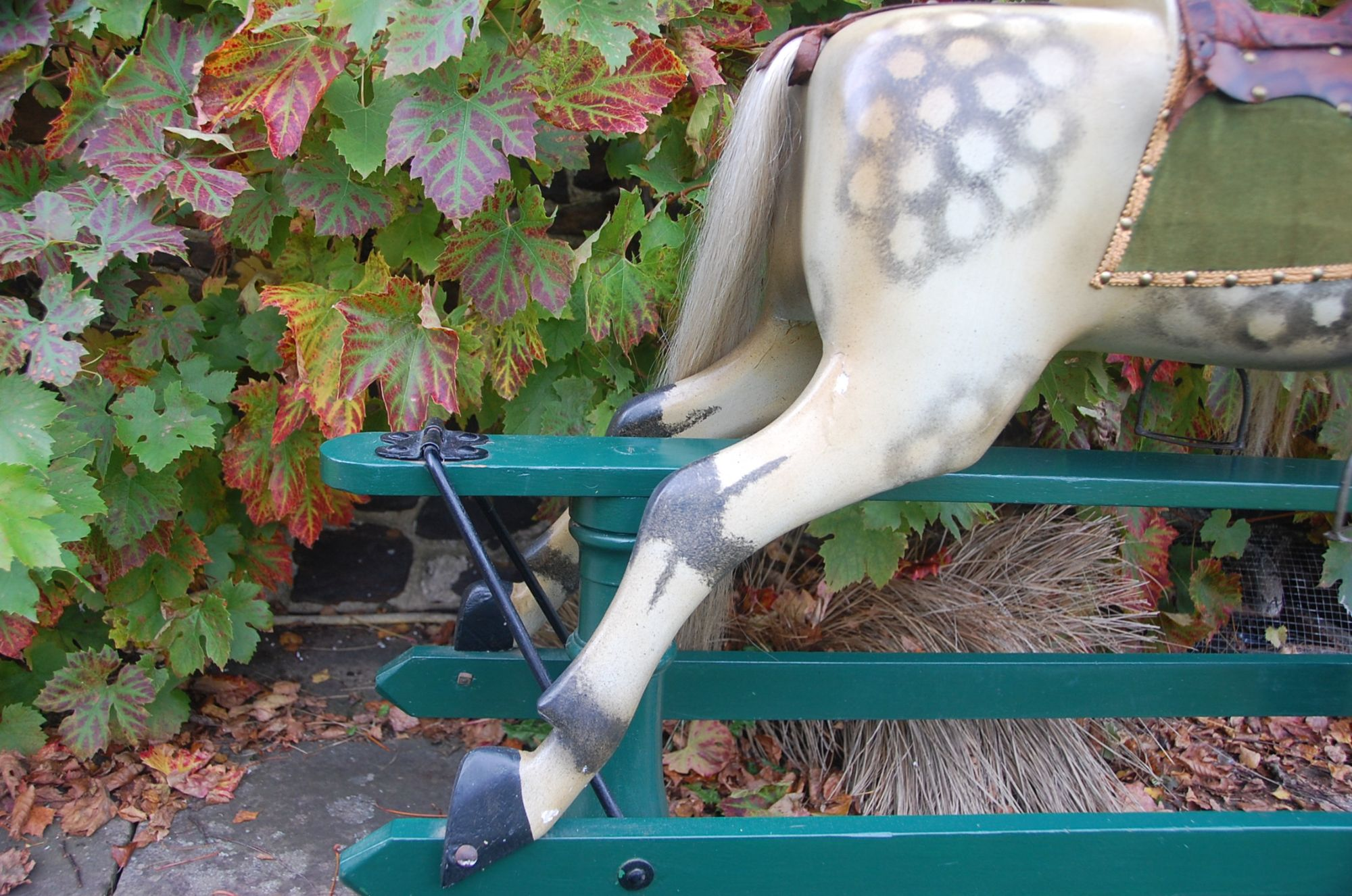 Bacl legs of F H Ayres rocking horse