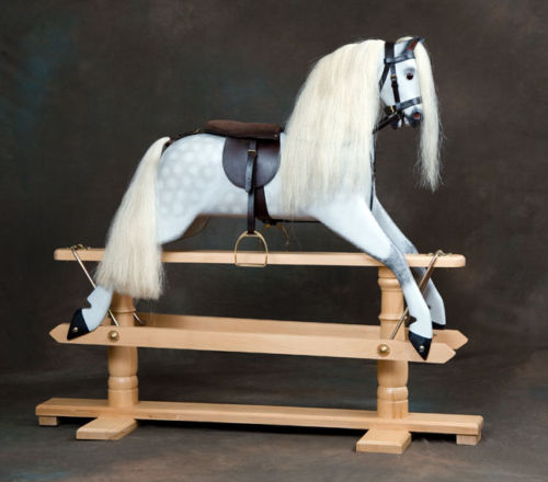 rivelin1 rocking horse with removable tack
