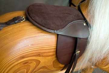 Removable saddle on Rivelin 4 rocking horse