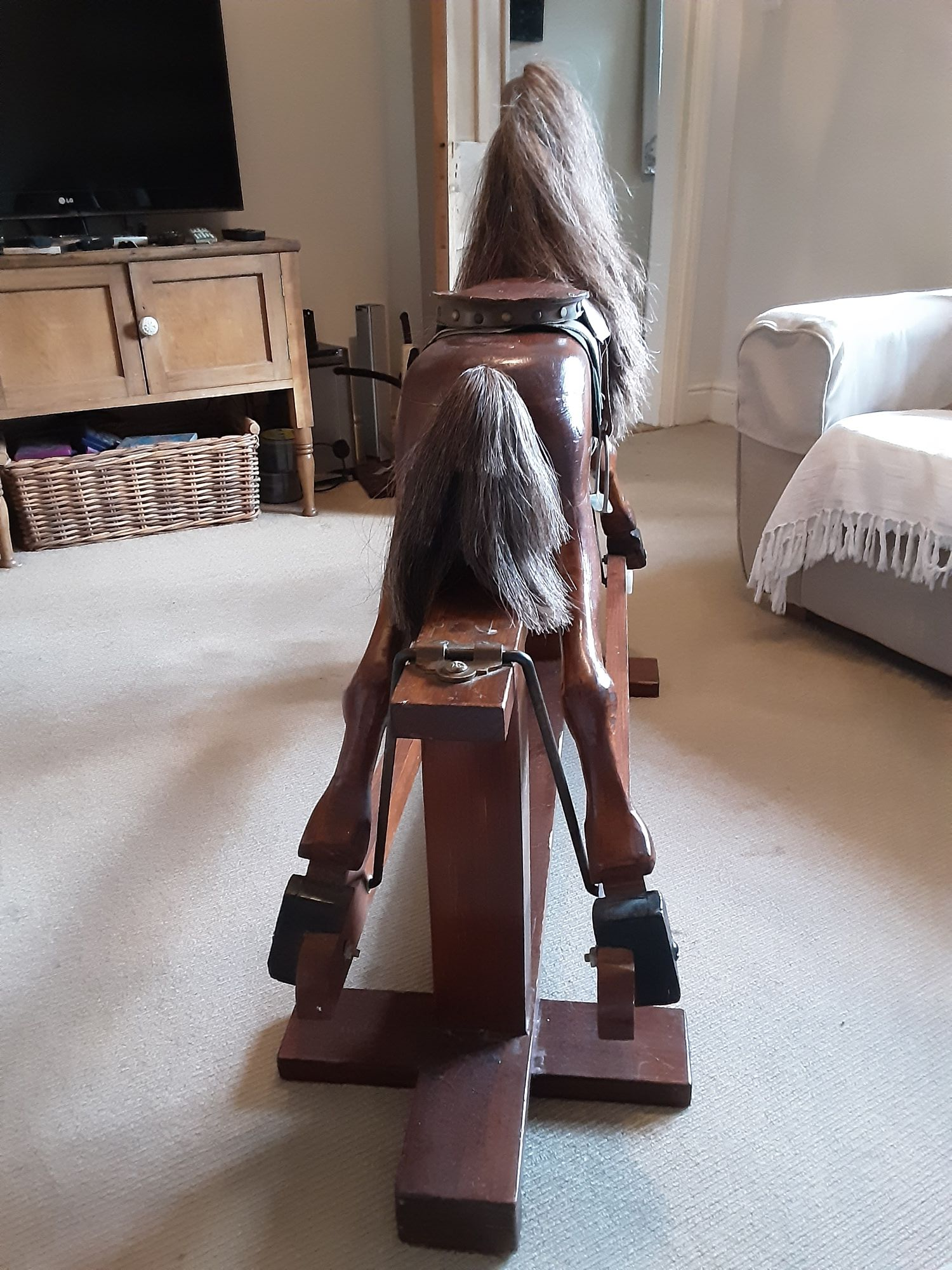 Handmade Wooden Rocking Horse For Sale