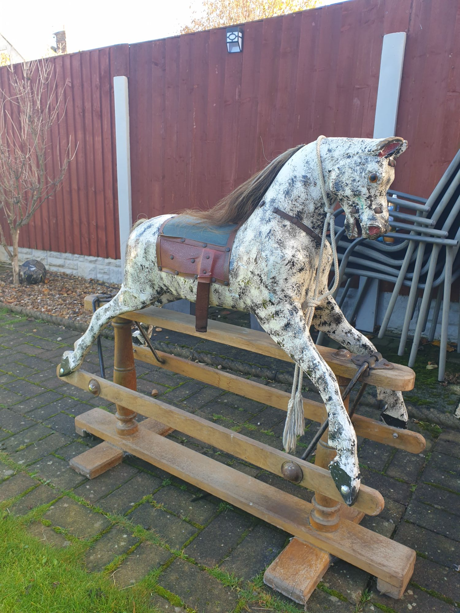 Lines Brothers  rocking horse unrestored for sale