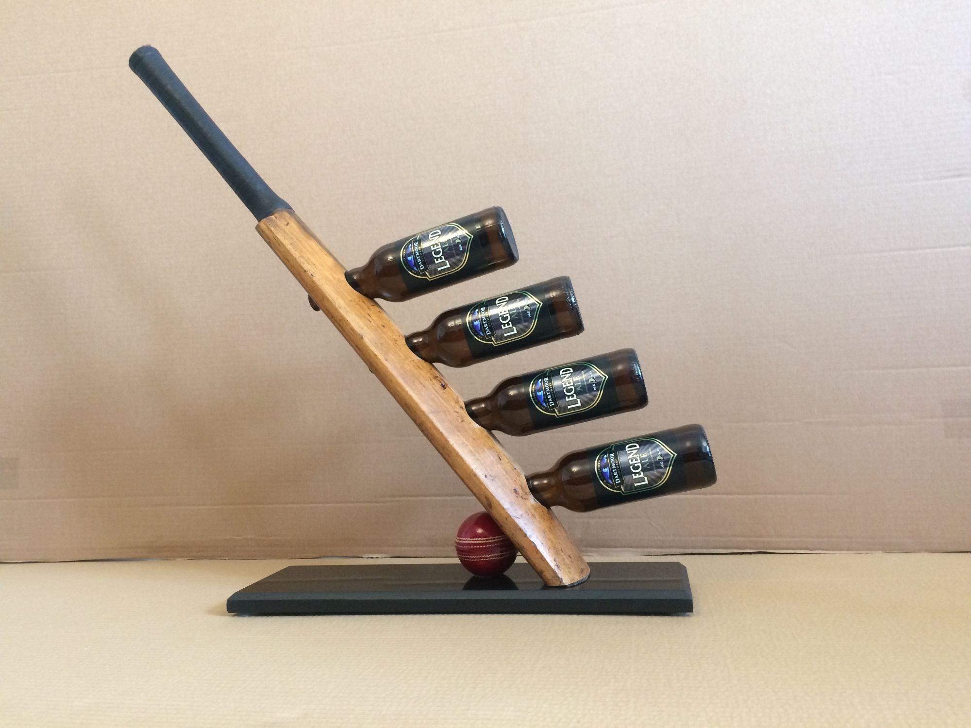 Cricket bat wine / Bottle rack