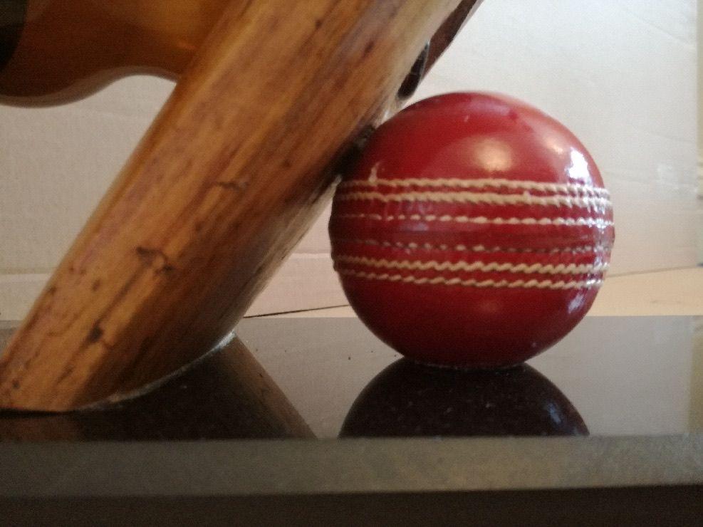 Vintage Cricket Bat Bottle / Wine Rack For Sale