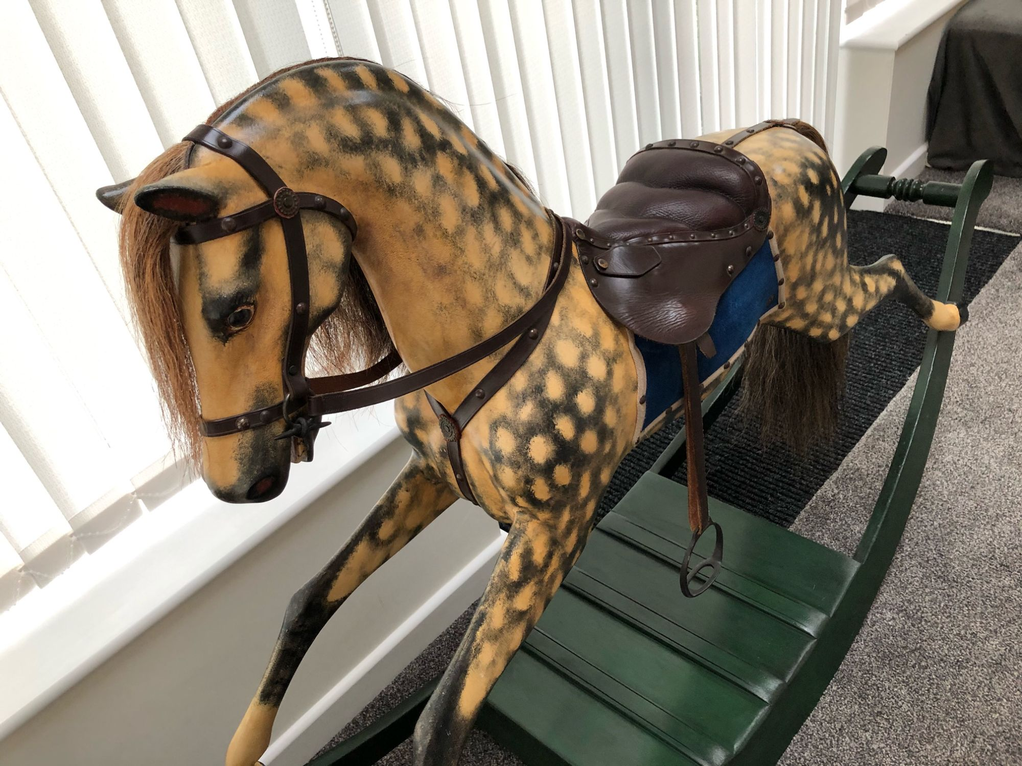 Georgian Bow Rocking Horse Circa 1830 For Sale Extra Carved