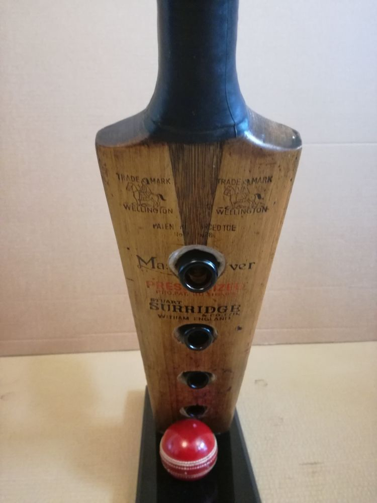 Cricket bat bottle rack  - unique present for a cricket fan