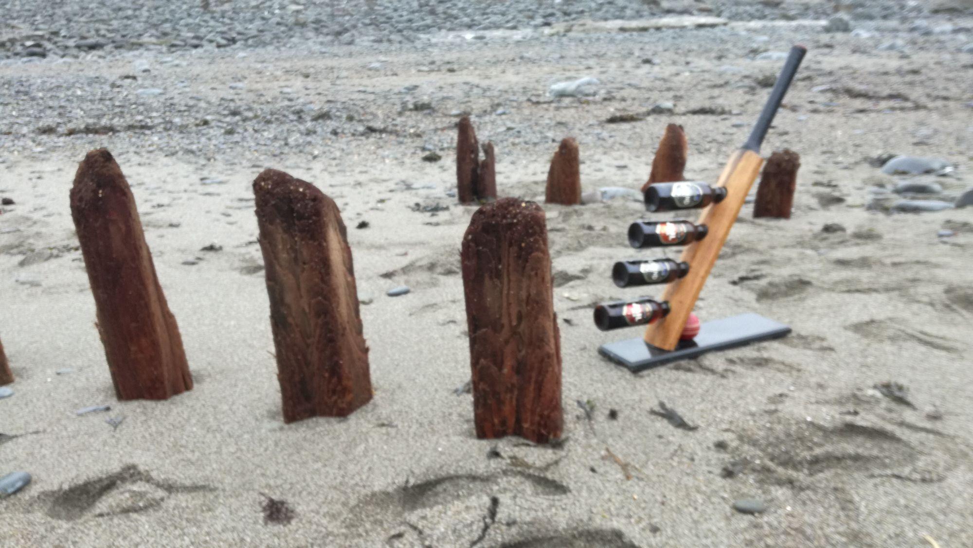 Bespoke cricket bat bottle rack