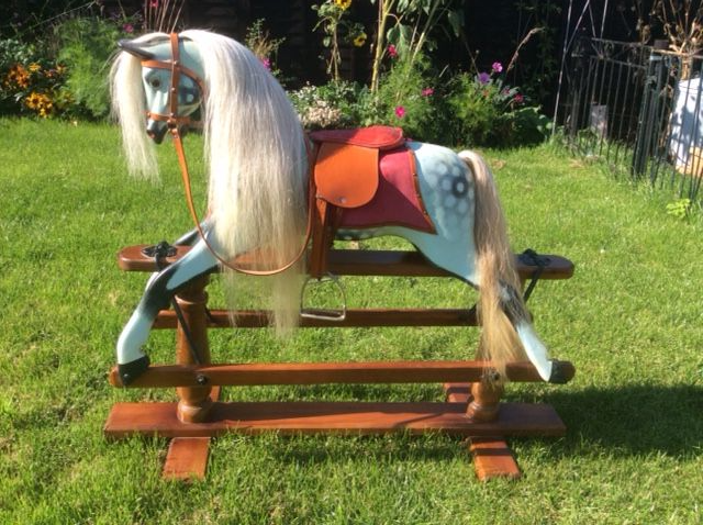 antique rocking horse for sale restored
