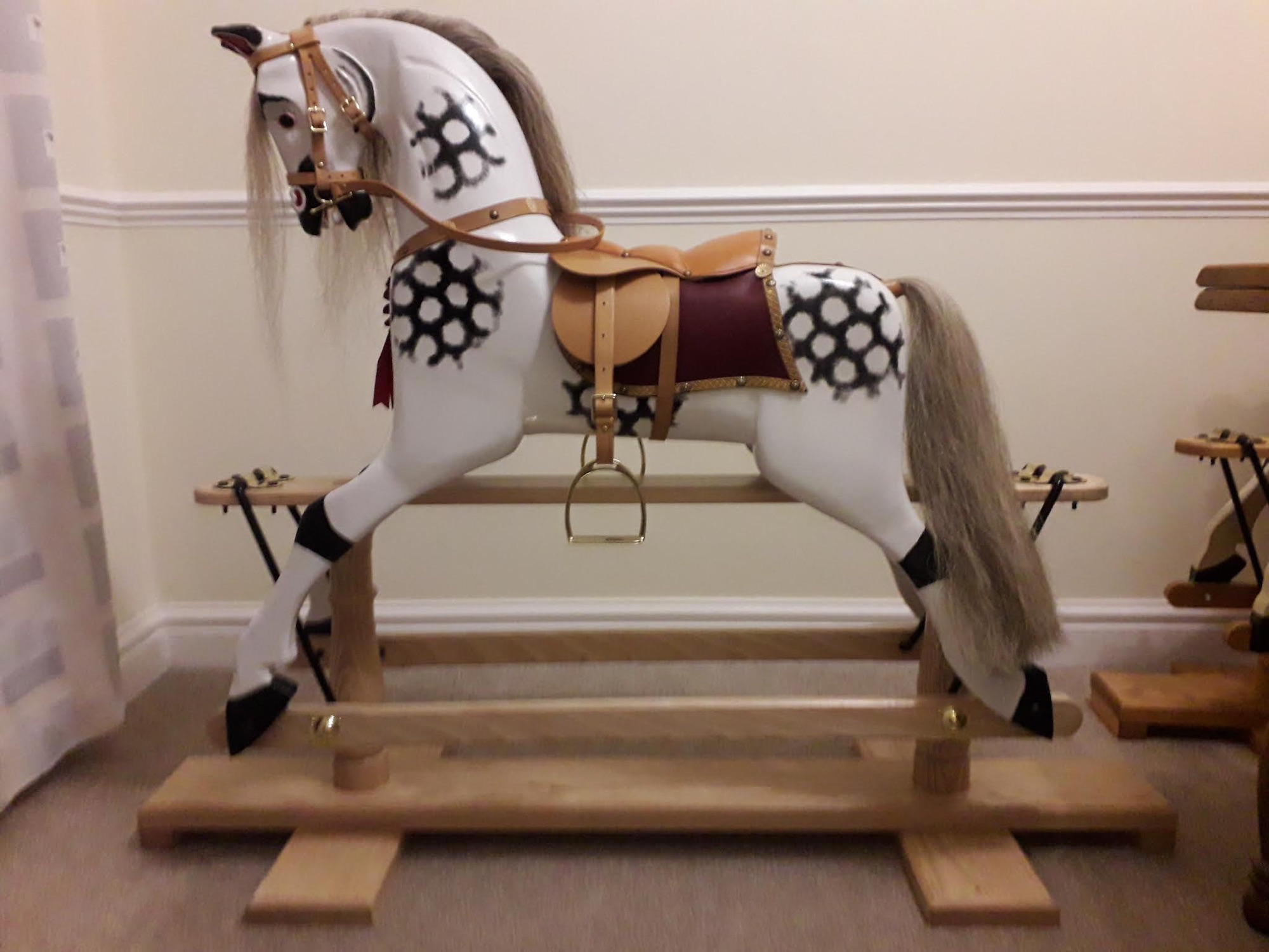 New Victorian style rocking horse