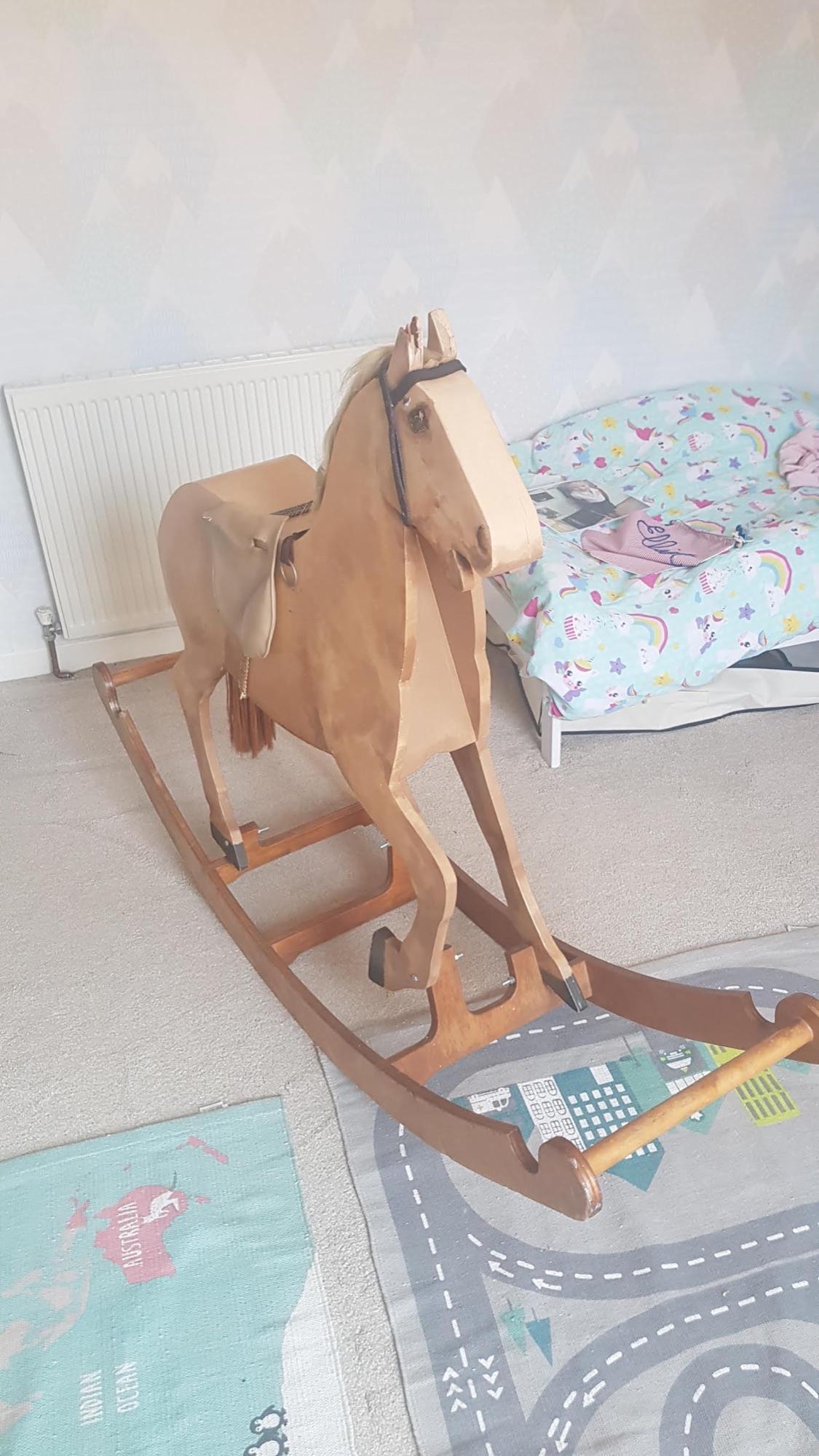 Vintage wooden children's rocking for sale